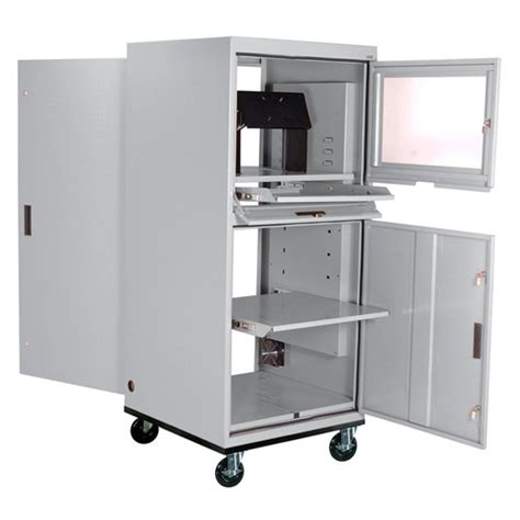 Computer Cabinet With Lock by Sandusky Mobile Computer Cabinet For