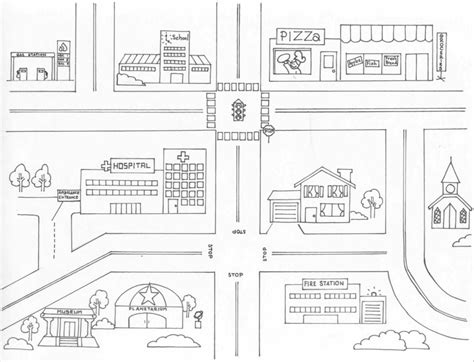 city map coloring page neighborhood map coloring page az coloring pages town map