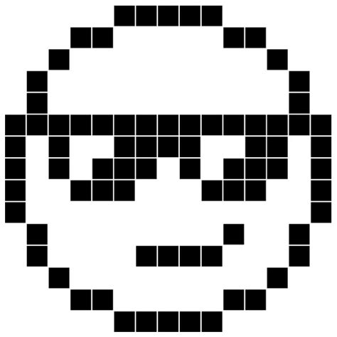 pixel smiley wandtattoo