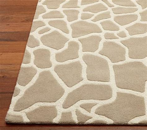 giraffe pattern rug animal print rug pottery barn