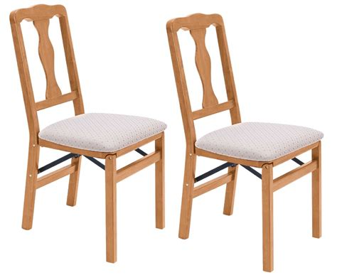Cushioned Dining Chairs Folding Dining Chairs 2pcs Solid Hardwood Frame Cushioned Seat Pad Ebay