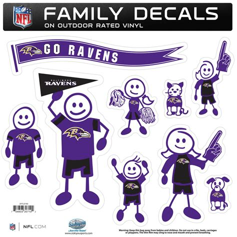 the sports fan zone baltimore ravens family decal set large