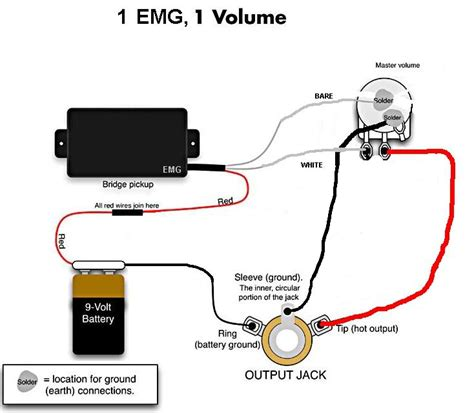 emg guitar wiring diagram emg free engine image