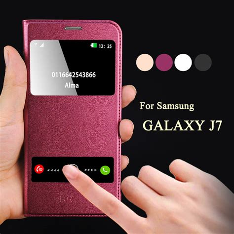 Samsung Galaxy J710 J7 2016 Luxury Mirror Bulat kobee luxury coque for samsung galaxy j7 j700f j7 2016 j710 mobile phone flip leather