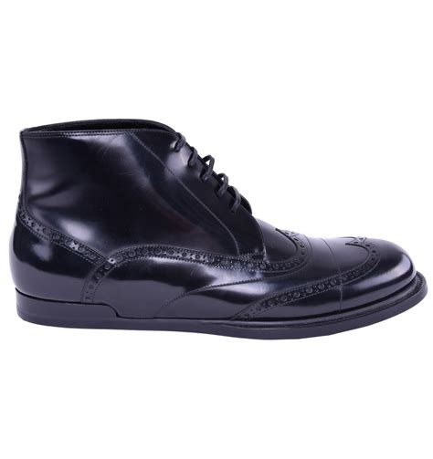 business boots dolce gabbana patent leather business boots shoes black
