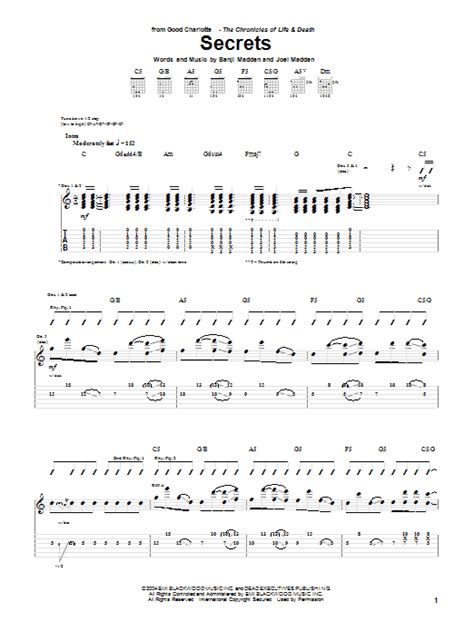 secret guitar tab secrets by guitar tab guitar instructor