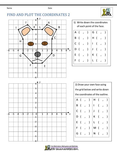 Coordinate Plane Picture Worksheets coordinate plane worksheets 4 quadrants