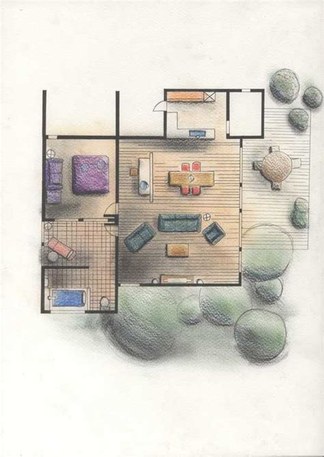 floor plan rendering techniques manual renderings by dorcas ngheen copic architecture