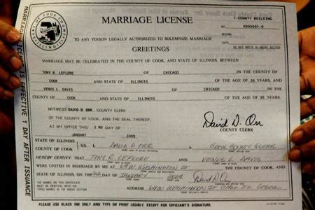 Chicago Marriage License Records Cotton Blossoms Into Cook County Marriage Of Year