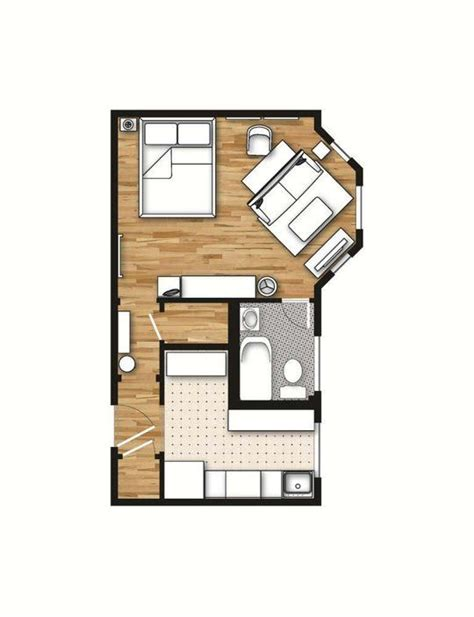 studio apartment sle layout 400 sq ft layout with a creative floor plan actual