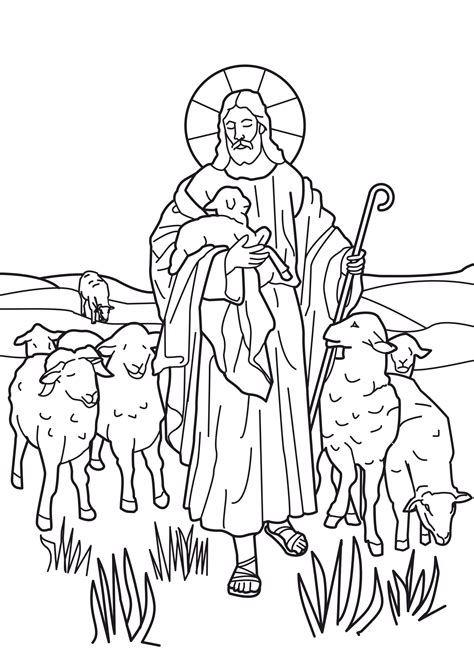 coloring pages jesus the good shepherd john 10 11 jesus i am the good shepherd coloring page