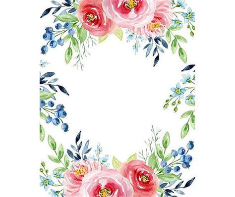frame design pinterest watercolour flower frame border clip art graphic design