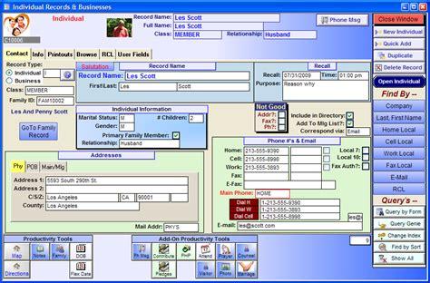church membership database template