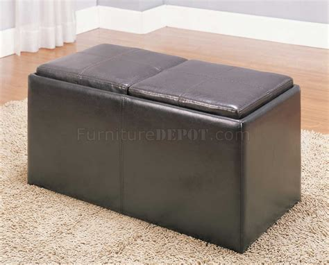 storage stools ottomans claire 469pu storage ottoman by homelegance w 2 stools trays