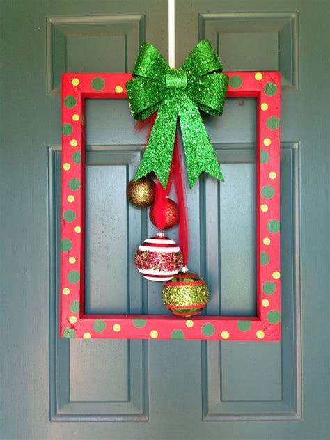 a cutie idea for a christmas picture fram frame door hanger by annagscc on etsy ideas door hangers