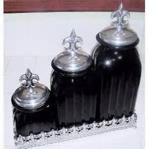 Fleur De Lis Kitchen Canisters 15 glass decorative bronze kitchen canister set 2 on popscreen