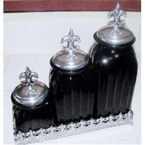 fleur de lis canisters for the kitchen black kitchen canisters on popscreen