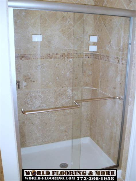 Marble Showers Bathroom Custom Cultured Marble Shower Mosaic Tile Power Jet Showers By Chicago Company World Flooring