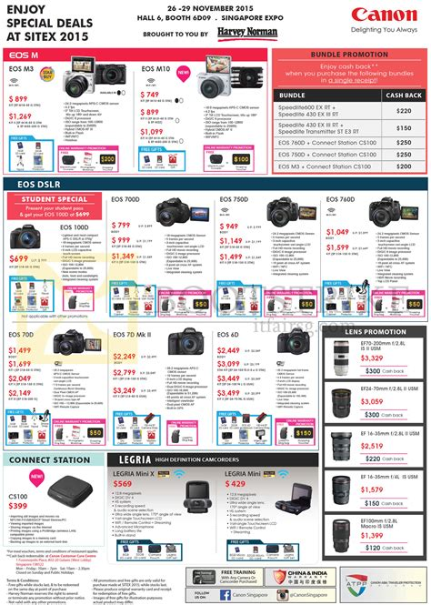 canon price list sitex show 2015 price list flyer prices in