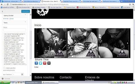 linkear imagenes html como linkear las redes sociales tema titania