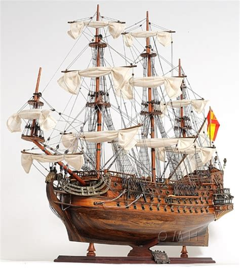 Handcrafted Ship Models - san felipe wooden model ship 37 quot l