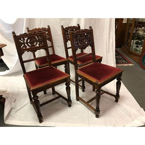 antique victorian dining room chairs set   chairish