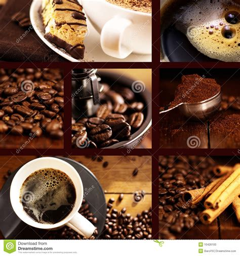 coffee collage stock image image  brown froth closeup
