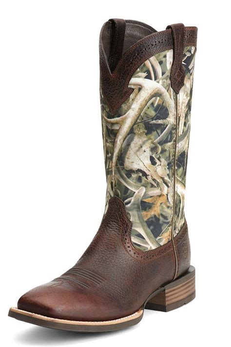camo cowboy boots boot sale ariat s quickdraw antler camo cowboy boots