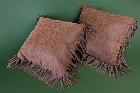 Pillows With Fringe by Western Leather Pillow With Fringe Western Pillow By