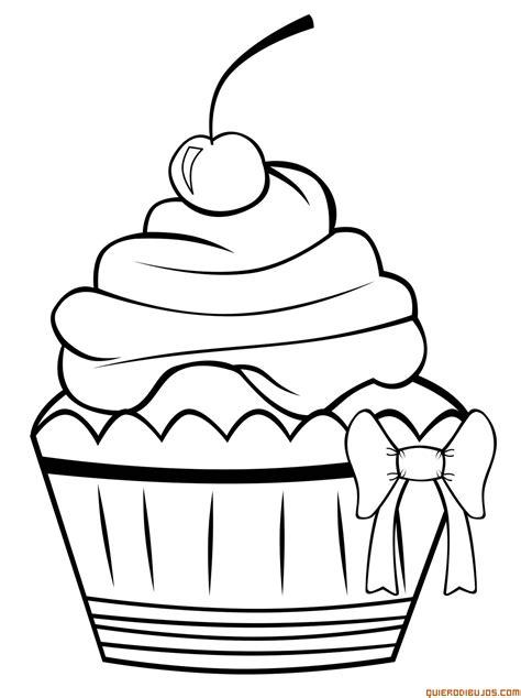 large cupcake coloring page cupcake para colorear