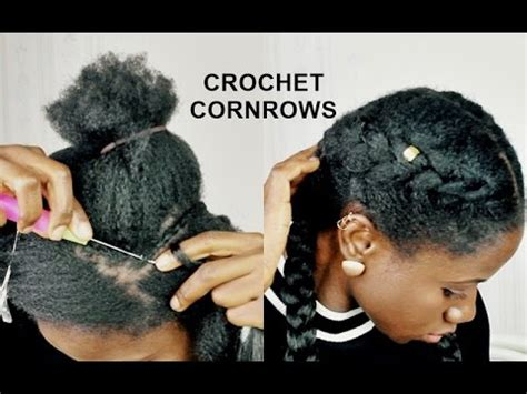 corn rolls under croshet hairstyle crochet braids cornrows less than 5 minutes how to youtube