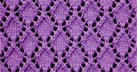 diamond pattern in knitting openwork diamonds lace knitting pattern knitting