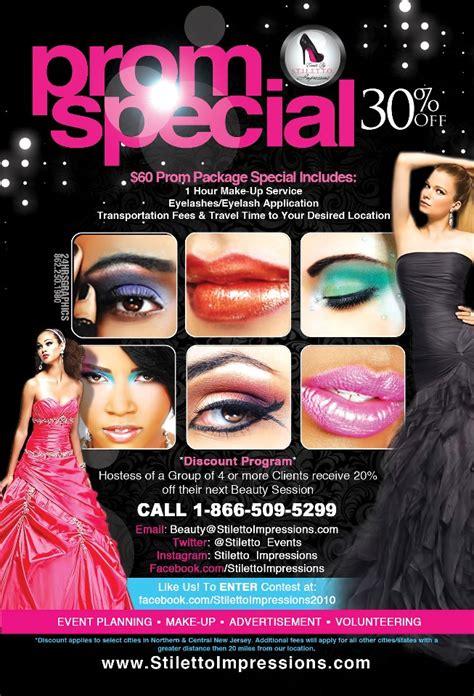 make up artist promotional flyer design graphic design