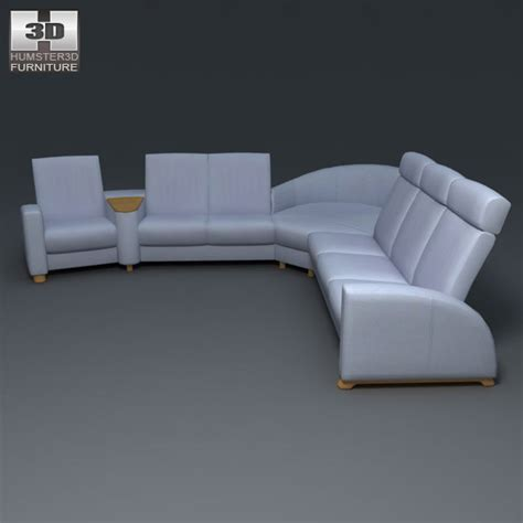 sci fi sofa arion sofa set ekornes stressless 3d model by