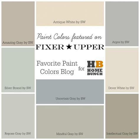 Beautiful Most Popular Interior Design Magazines #7: HGTV-Fixer-Upper-Favorite-Paint-Colors.-Amazing-Gray-SW7044-Sherwin-Williams-Antique-White-SW6119-Sherwin-Williams-Argos-SW7065-Sherwin-Williams-Mindful-Gray-SW7016.jpg
