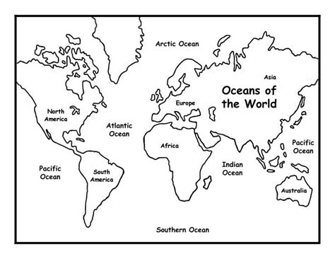 Printable Map Coloring Page | free coloring pages of blank map of world