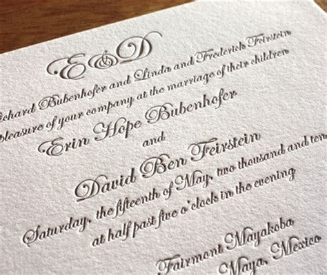 wedding invitation card font customizing letterpress wedding invitation cards choosing