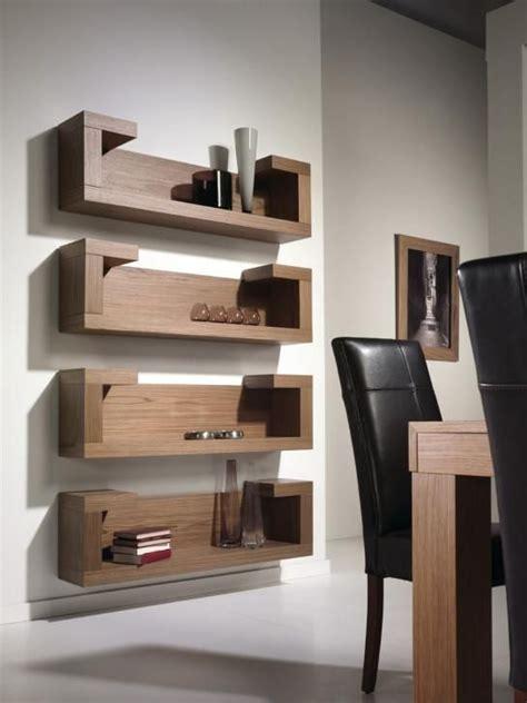 entrepanos minimalistas muebles repisas de madera