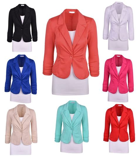 colored blazers womens colored blazers fashion ql