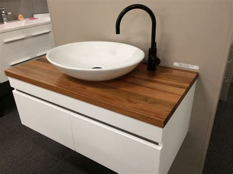 new rifco vanity with solid timber top