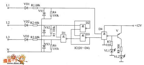 phase detector circuit diagram three phase ac phase sequence detector circuit diagram