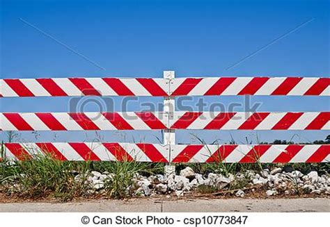 Road Barrier 9 11 drawing of road barrier at a construction or road work