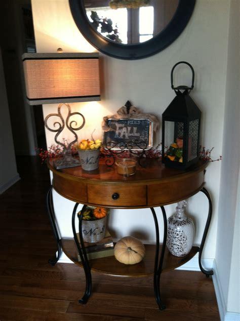 fall entry table decor fall entry table home decor