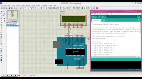 arduino tutorial in urdu how to interface lcd with arduino proteus isis urdu hindi