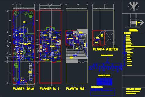 wiring   storey house  autocad  cad   kb bibliocad