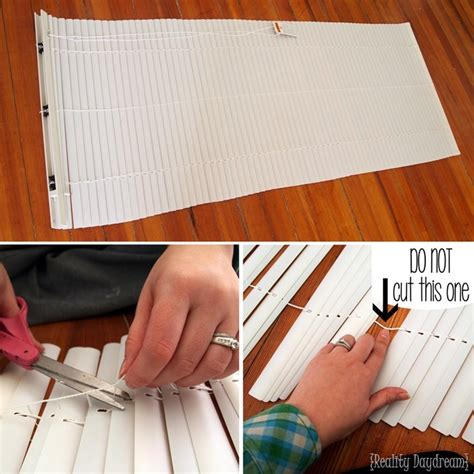 How To Make Shades Out Of Mini Blinds how to make diy mini blinds using your existing mini blinds