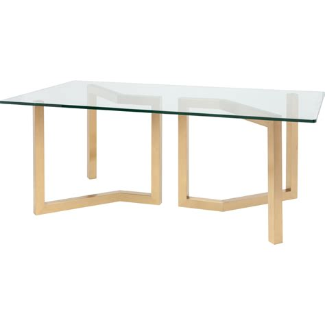 dining table with gold legs nuevo modern furniture hgsx170 paula 78 quot dining table w
