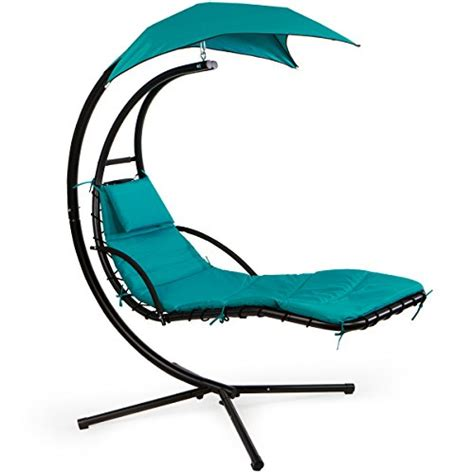 XtremepowerUS Floating Swing Chaise Lounge Chair Hammock