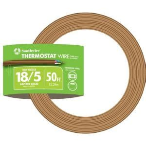 southwire 50 ft 18 5 brown solid cu thermostat cable