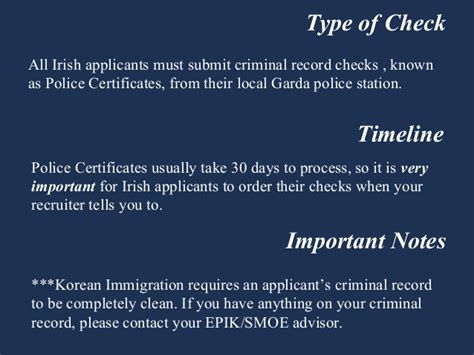 Criminal Record Ireland Ireland Criminal Record Check Teaching In South